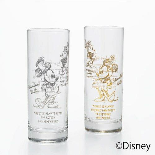 ペアグラスセット ディズニー 食器 ガラス コップ ミッキーマウス&ミニーマウス『スチームボートウィリー グラスペア(タンブラーグラス×2)』 ペアセットで結婚祝いなどギフトにも最適