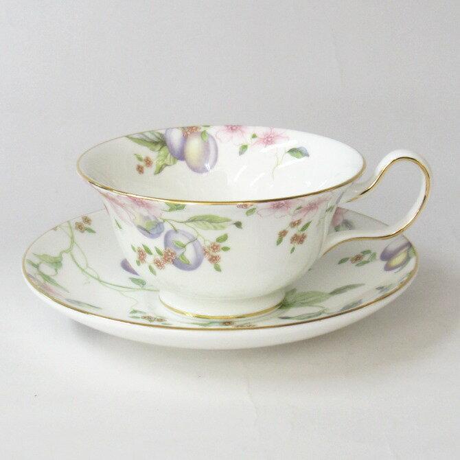 ティーカップ&ソーサー ウェッジウッド(Wedgwood)スウィートプラム ピオニー(紅茶カップ)【あす楽対応】【スイートプラム】
