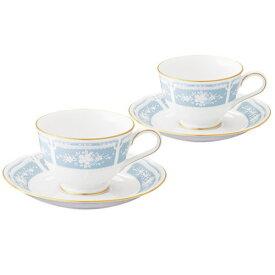 カップ&ソーサー ペアセット 食器 ブランド Noritake/ノリタケ 『レースウッドゴールド ティー・コーヒー碗皿 ペア』おしゃれなレース柄 ティーカップ、コーヒーカップ兼用