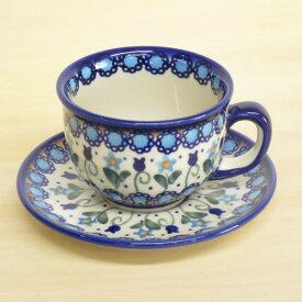 ポーリッシュポタリー カップ&ソーサー 花柄 陶器 ポーランド食器 ボレスワヴェエツ VENA社