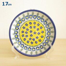 ポーリッシュポタリー プレート 17cm 皿 花柄 陶器 ポーランド食器 中皿 ケーキ皿 ボレスワヴィエツ VENA社