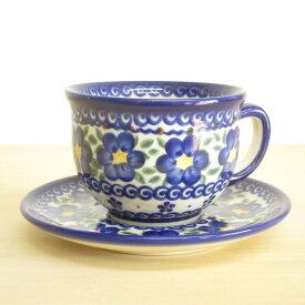 ポーリッシュポタリー カップ&ソーサー ティーカップ コーヒーカップ 花柄 陶器 ポーランド食器 ボレスワヴィエツ VENA社