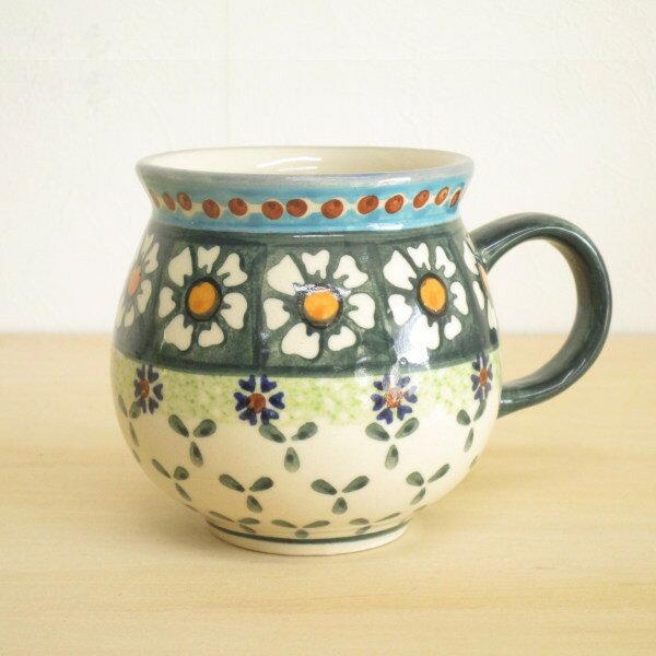 ポーリッシュポタリー マグカップ 花柄 陶器 ポーランド食器 ボレスワヴェエツ WIZA社 【母の日 プレゼント ポイント10倍】