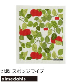 アルメダールス キッチンワイプ(台ふきん) 北欧 『スポンジワイプ アップル』