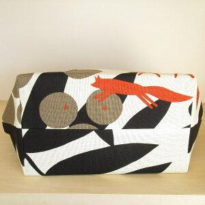 舟形トートトートバッグ北欧アルメダールの『キツネとブドウ』ブラウン【ホワイトデーお返しギフト雑貨】