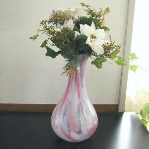 花瓶/花器ガラス津軽びいどろ桃色
