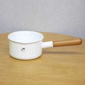 野田琺瑯 片手鍋POCHKA(ポーチカ) ミルクパン 12cmホワイト(白) 琺瑯(ホーロー)製の小さなかわいい片手鍋 出産祝いや就職祝,1人暮らしのプレゼント(ギフト)に 日本製