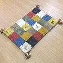 玄関マット 室内 手織りマット 70×120 インディアンギャベマット