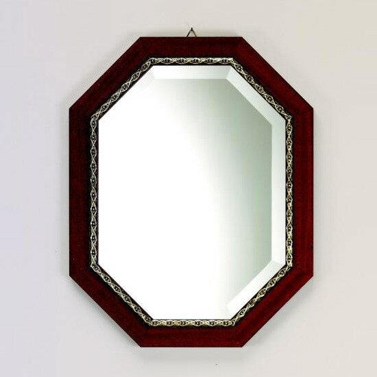 鏡 壁掛け イタリア製 八角ミラー 37×47cm 『バロッコ』 壁掛け鏡(壁掛けミラー/ウォールミラー)