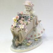 ポーセリンアート『花車と少女』【あす楽対応_関東】