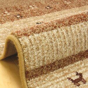 ラグカーペットウィルトン織り133×195cmギャベ風カシュクリ