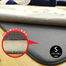 防音 ふかふか下敷き専用ラグマット 約115×170cm 長方形『ふかピタ2』 クッション性に優れた、ラグマットやカーペット用(絨毯/じゅうたん)のふかふかの滑り止めシート 敷くだけで薄いラグもふかふかの厚手のラグに変身 ホットカーペット対応/床暖房対応