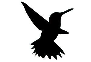 シルエットプレート ハチドリ2Pセット【プレート】【オーナメント プレート】