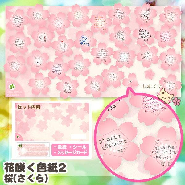 花咲く色紙2 桜 (寄せ書き 色紙) 【アルタ】 【あす楽対応】