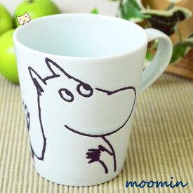 ムーミン モノクロ マグカップ 【ムーミン】MM39-1-11 【山加商店】 【あす楽対応】