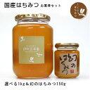 国産はちみつ 選べる1kg&幻のはちみつ150g(日本蜜蜂)セット 和洋食べ比べセット
