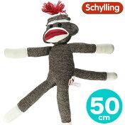 SchyllingシリングソックモンキーSockMonkeyぬいぐるみ靴下のお猿さん大きめサイズ50cmクラシックトラディショナルベビー/キッズ/子供/男の子/女の子
