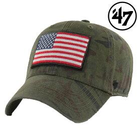 '47 Brand USA フラッグ ヘリテージ 星条旗 '47 クリーンナップ キャップ サンダルウッド カモフラージュ 男女兼用 ユニセックスメンズ/レディース【再入荷なし/現品限り】