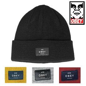 【セール■メール便可】OBEY オベイ バーノン ビーニー ニットキャップ 帽子 【再入荷なし/現品限り】SALE