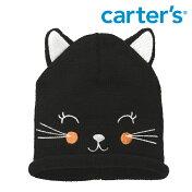 Carter'sカーターズブラックキティ黒猫ビーニーキャップ