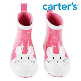 Carter's カーターズ バニー 長靴 うさぎ レインブーツ ショート丈 ピンク ドット 水玉模様 雨 雪 キッズ/子供用 女の子/男の子【再入荷なし/現品限り】