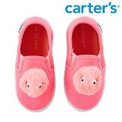 Carter'sカーターズもこもこモンスタースリッポン蛍光ピンクスニーカーふわふわポンポンボンボンキッズ/子供用女の子/男の子【再入荷なし/現品限り】
