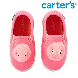 Carter's カーターズ もこもこ モンスター スリッポン 蛍光ピンク スニーカー 運動靴 ふわふわ ポンポン ボンボン キッズ/子供用 女の子/男の子【再入荷なし/現品限り】