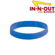 【メール便可】In-N-OutBurgerイン・アンド・アウトバーガーブルーリストバンドシリコーンアメリカ西海岸で人気のハンバーガーショップのグッズです!