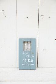 【5E3135】クレイヴェールウッドドア ブルー☆オシャレな木製ドアオーナメント♪