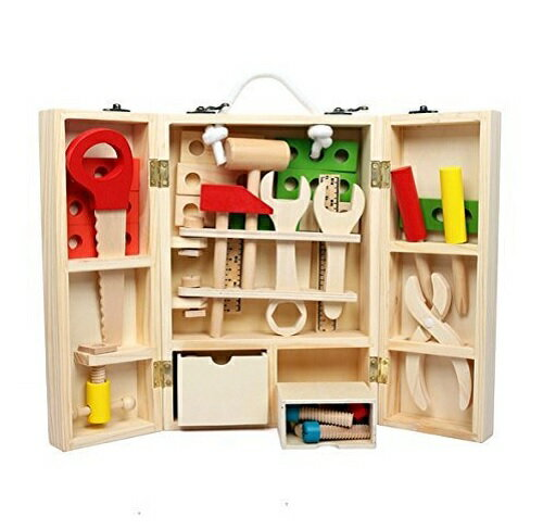 大工さんセット おもちゃ 知育玩具 木製 玩具 木のおもちゃ 男の子・女の子 3歳以上のお子様に最適!