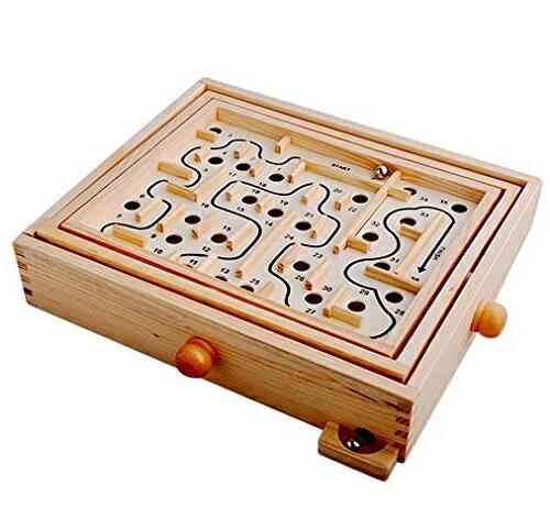 大人気の迷路ゲーム ぐるぐる迷宮 木のおもちゃ 新感覚バランスゲーム 子供 キッズ 知育玩具