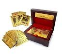 【専用ケース入り】 純金風 ゴールド トランプ カード プラスチック 製 ポーカー