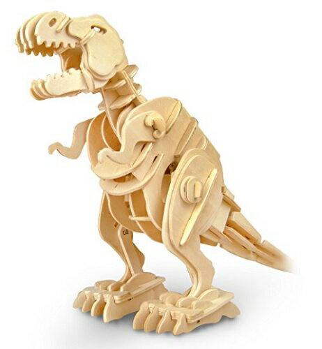 動く木製3Dパズルキット D210ティラノザウルス