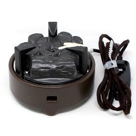 茶道具 風炉 電熱器 電気炭 風炉用 強弱切替スイッチ付(YU-001/YU-002) 炭型ヒーター ヤマキ電器 電熱茶道具 電熱風炉 表千家 裏千家 遠赤外線 200w 500w 送料無料