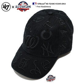 47 フォーティーセブンブランド 47BRAND 帽子 キャップ 【B-TEAMC15GWS-BKA】 メンズ レディース ローキャップ 2018年オールスター限定モデル メジャーリーグ 全30球団 コラボ おしゃれ CAP MLB 公式 ベースボール 大リーグ 総柄刺繍 黒