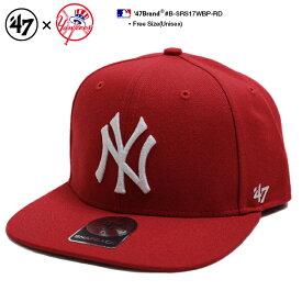 b系 ヒップホップ ストリート系 ファッション メンズ レディース キャップ 【B-SRS17WBP-RD】 フォーティーセブンブランド 47BRAND ニューヨーク ヤンキース 帽子 コラボ CAP MLB メジャーリーグ ベースボール NYロゴ 刺繍 アメカジ USAモデル 赤 正規品 ギフト