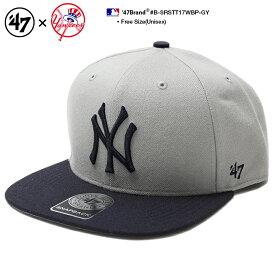 b系 ヒップホップ ストリート系 ファッション メンズ レディース キャップ 【B-SRSTT17WBP-GY】 フォーティーセブンブランド 47BRAND ニューヨーク ヤンキース 帽子 コラボ CAP MLB メジャーリーグ ベースボール NYロゴ 刺繍 USAモデル グレー 紺 正規品 ギフト