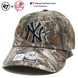 b系 ストリート系 ファッション メンズ レディース ローキャップ 【RTRGW17GWS】 フォーティーセブンブランド 47BRAND ニューヨーク ヤンキース 帽子 CAP ベースボール ボールキャップ MLB メジャーリーグ 刺繍 アウトドア アメカジ 迷彩 正規品 ギフト