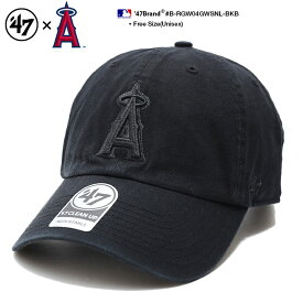 ロサンゼルス エンゼルス 帽子 キャップ 【B-RGW04GWSNL-BKB】 メンズ レディース ローキャップ ボールキャップ CAP フォーティーセブンブランド 47BRAND 応援 かっこいい おしゃれ MLB 公式 メジャーリーグ 大リーグ 黒 刺繍 ロゴ アメカジ スポーツ