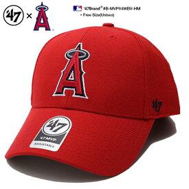 ロサンゼルス エンゼルス 帽子 キャップ 【B-MVP04WBV-HM】 メンズ レディース ローキャップ ボールキャップ CAP 応援グッズ フォーティーセブンブランド 47BRAND かっこいい おしゃれ MLB 公式 メジャーリーグ ベースボール 大リーグ 赤 アメカジ スポーツ