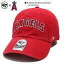 ロサンゼルス エンゼルス 刺繍 赤 ローキャップ ボールキャップ 帽子 【B-RGWSC04GWS-RDA】 フォーティーセブンブラン…