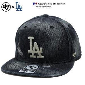 b系 ヒップホップ ストリート系 ファッション メンズ レディース キャップ スナップバック 帽子 【B-LGHLN12DMP-BK】 フォーティーセブンブランド 47BRAND ロサンゼルス ドジャース CAP MLB メジャー