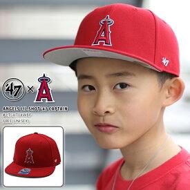 【即納】ロサンゼルス エンゼルス 帽子 キャップ CAP 男の子 女の子 キッズ レディース スナップバック 【LTSHT04WBP 】 47BRAND 子供用 MLB メジャーリーグ 大リーグ おしゃれ 赤 正規品 b系 ストリート系 ギフト
