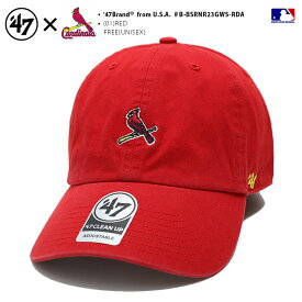 セントルイス カージナルス 帽子 キャップ 【B-BSRNR23GWS-RDA】 メンズ レディース ローキャップ CAP フォーティーセブンブランド 47BRAND おしゃれ MLB 公式 メジャーリーグ 大リーグ 赤 b系 ヒップホップ ストリート系 ファッション ブランド