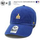シアトル マリナーズ 帽子 キャップ 【BCPTN-BSRNR24GWS-RYA77】 メンズ レディース 復刻ロゴ ローキャップ CAP MLB …