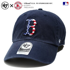 フォーティーセブンブランド 47BRAND 帽子 キャップ 【B-SPGBN02GWS-NYC】 メンズ レディース ローキャップ CAP ボストン レッドソックス かっこいい おしゃれ MLB 公式 メジャーリーグ 大リーグ 紺