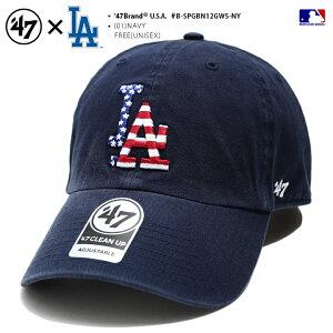 フォーティーセブンブランド 47BRAND 帽子 キャップ 【B-SPGBN12GWS-NY】 メンズ レディース ローキャップ ボールキャップ CAP ロサンゼルス ドジャース おしゃれ MLB 公式 メジャーリーグ 大リーグ