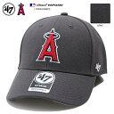 ロサンゼルス エンゼルス フォーティーセブンブランド 47BRAND 帽子 キャップ ローキャップ ボールキャップ CAP メンズ レディース グレー MLB 公式 メジャーリーグ 大リーグ 刺繍 か