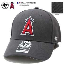ロサンゼルス エンゼルス フォーティーセブンブランド 47BRAND 帽子 キャップ ローキャップ ボールキャップ CAP メンズ レディース グレー MLB 公式 メジャーリーグ 大リーグ 刺繍 かっこいい おしゃれ b系 ヒップホップ ストリート系 ファッション ブランド MVP04WBV