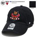 47BRAND フォーティーセブンブランド 帽子 キャップ ローキャップ CAP メンズ レディース 黒 シカゴブルズ Chicago Bu…